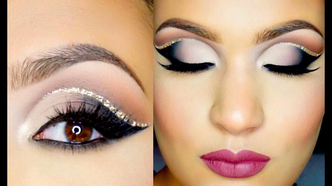 TUTORIAL PASO A PASO: Cut Crease Doble + Glitter | AbrilDoesMakeup ...