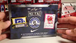 Opening Hobby Box #2 of 2017 Leaf Metal Perfect Game Baseball Cards