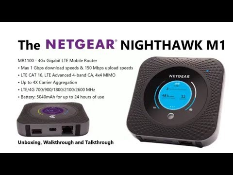 Unboxing the NetGear Nighthawk M1 Mobile Router World's First Gigabit Class  4G LTE Mobile Router