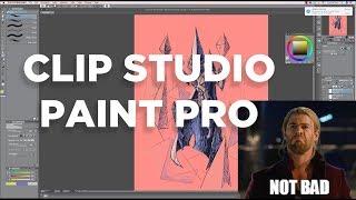 Clip Studio Paint Pro: BETTER for Illustration than Photoshop CC 2018