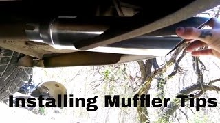 How To Install Stainless Steel Chrome Muffler Tips or Tip | Watch And Learn