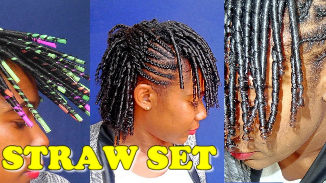 Perfect STRAW SET/CURLS |Natural Hair Styles| ✓️Jah-nette - YouTube