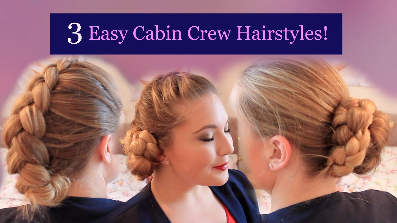 3 easy cabin crew hairstyles - youtube