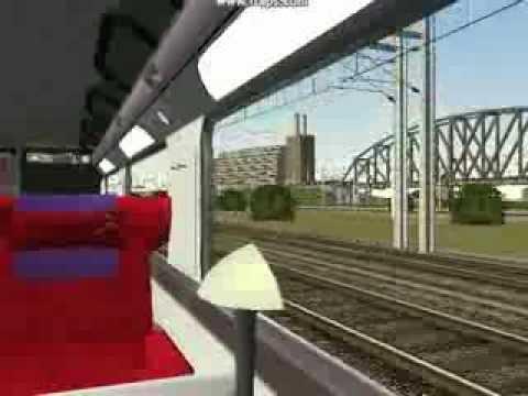 tgv duplex thalys en direction de paris gare du nord simulation youtube. Black Bedroom Furniture Sets. Home Design Ideas