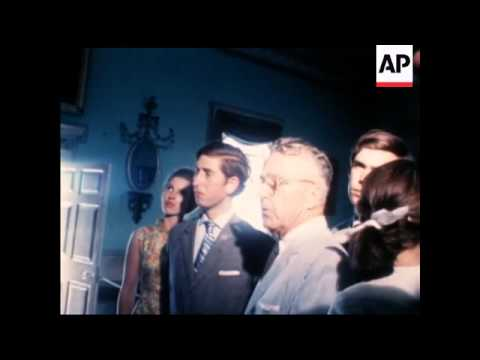 PRINCE CHARLES AND PRINCESS ANNE VISITS MOUNT VERNON  COLOUR   NO SOUND