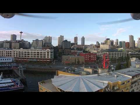 Drone footage from Edgewater Hotel in Seattle