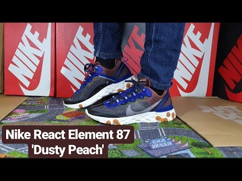 d1a0201f Nike React Element 87 'Dusty Peach' Unboxing & On Feet! - YouTube