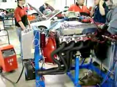 Ford 460 big block first run on engine stand - YouTube