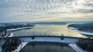 Der schneebedeckte Kreis Soest aus der Luft
