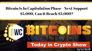 Bitcoin Is In Capitulation Phase - Next Support $5,000, Can It Reach $3,000?