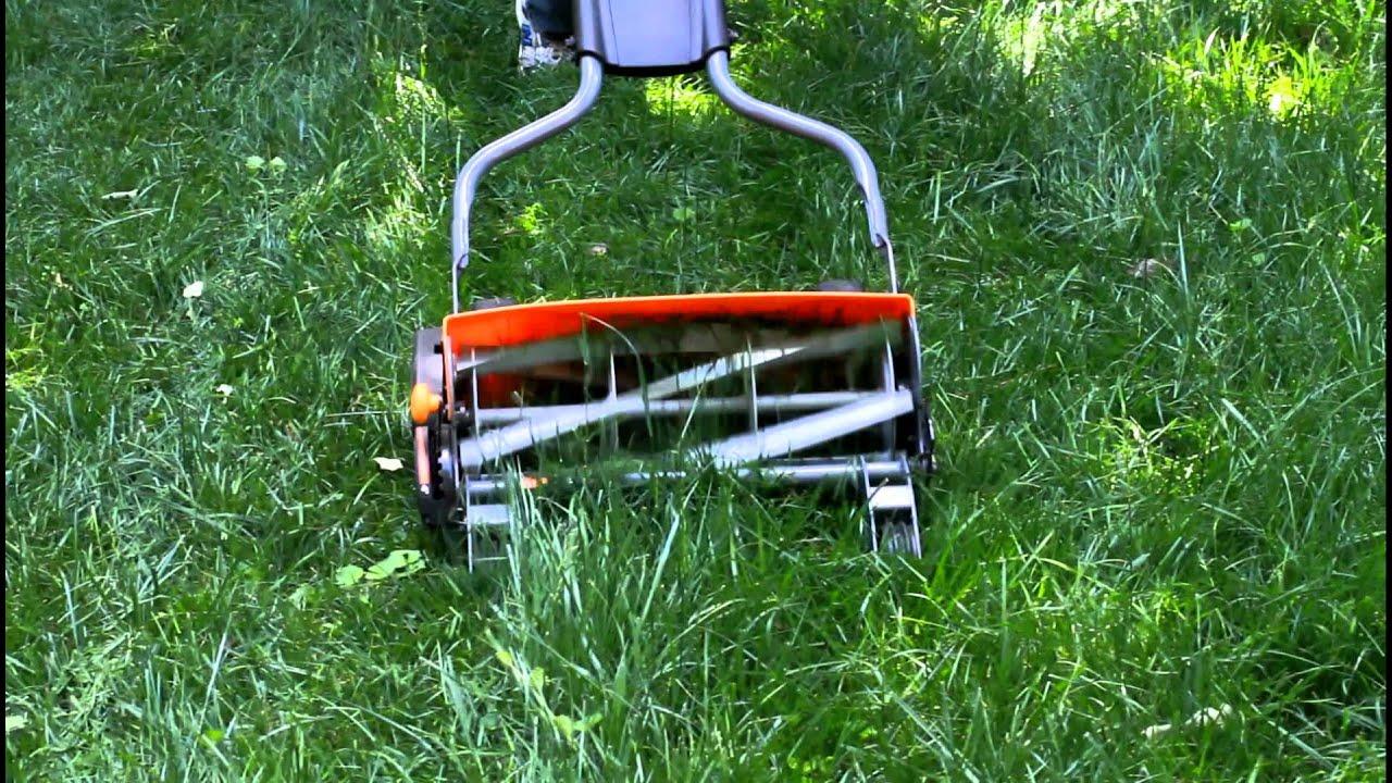 So  I got a Fiskars reel mower  - The Frugal Girl