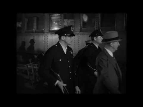 'G' Men (1935) Lloyd Nolan, Shootout rescue of Leggett , scene .HD