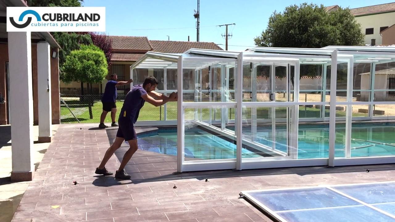 cubiertas para piscina telesc picas cubriland youtube