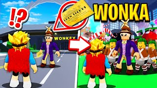 We Visited a Chocolate Factory in Roblox BROOKHAVEN RP!! (Willy Wonka)