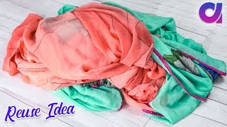 How to Reuse Old Saree at home | Clothes recycling | Artkala