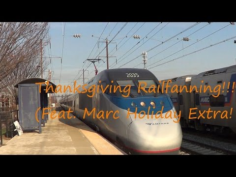 HD: Thanksgiving Railfanning@Seabrook(Feat.Marc Holiday Extra)