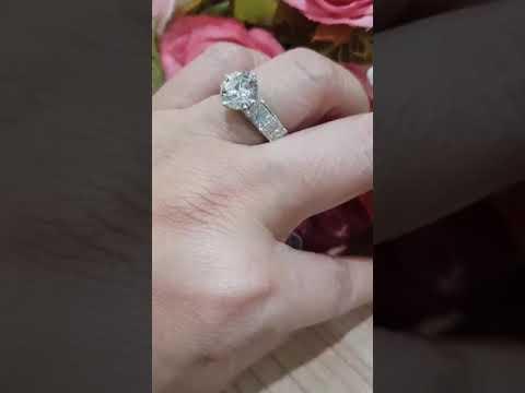 แหวนเพชร น้ำร้อย D color
