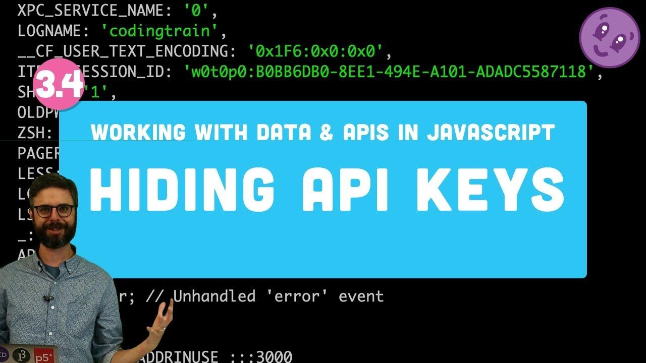 3 4 Hiding API Keys with Environment Variables (dotenv) and Pushing Code to  GitHub