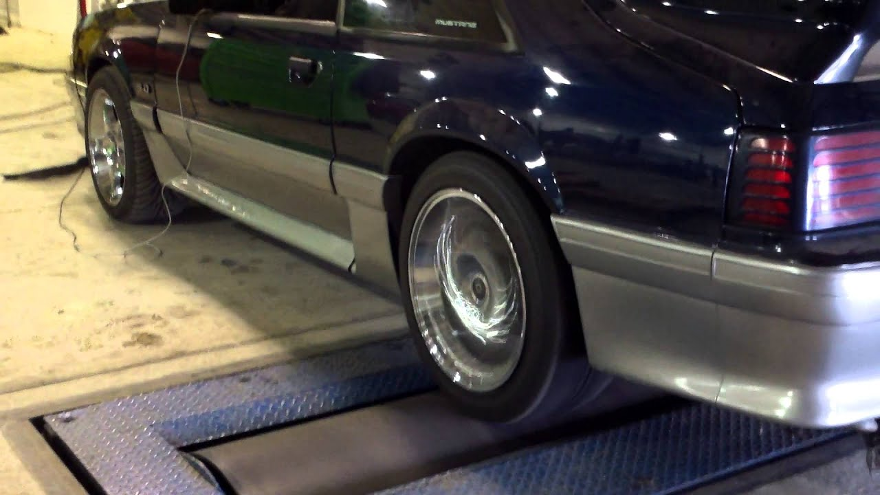 hight resolution of  87 93 1990 mustang gt dyno with new trick flow top end 2 mp4