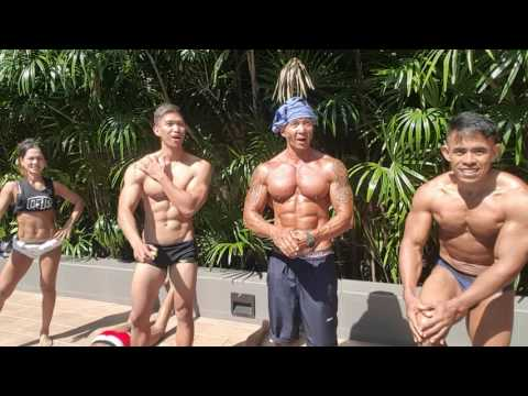 TEAM NABBA/WFF INDONESIA SUN BATHING @YORK HOTEL SINGAPORE