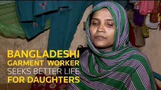 Bangladeshi garment worker seeks better life for daughters