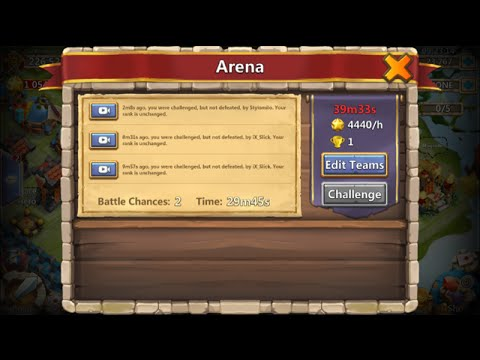 Rank 1 Arena For OVER An HOUR Long Awesome Set UP Great Matches Castle Clash
