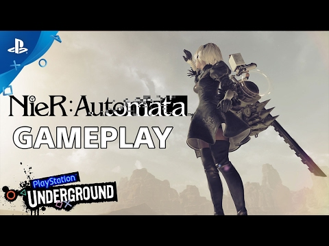 NieR: Automata - PlayStation Underground Open World Gameplay Video | PS4