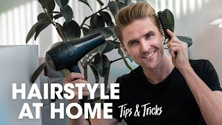 MENS HAIR STYLING Tips - DIY at Home