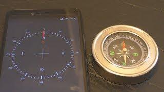 сравнение компаса и смартфона