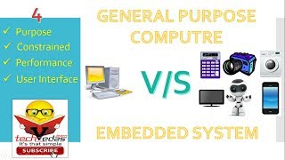 Difference between General purpose computing system and Embedded system
