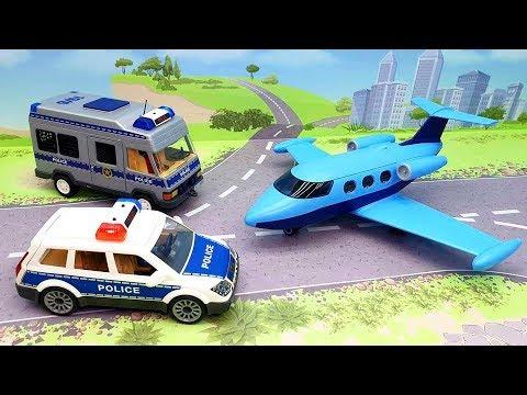 Мультики про машинки - мультики для детей с игрушками м ашинками - Полицейская ловушка.