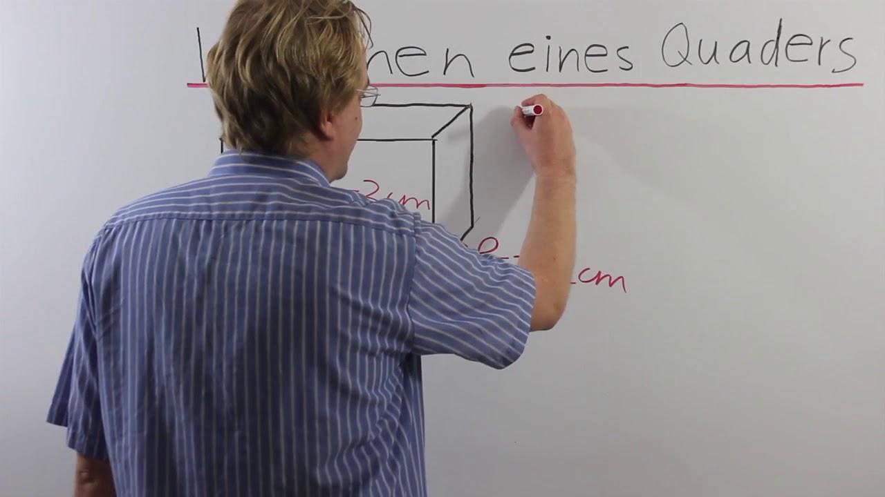 Volumen Eines Quaders 5. Klasse - YouTube
