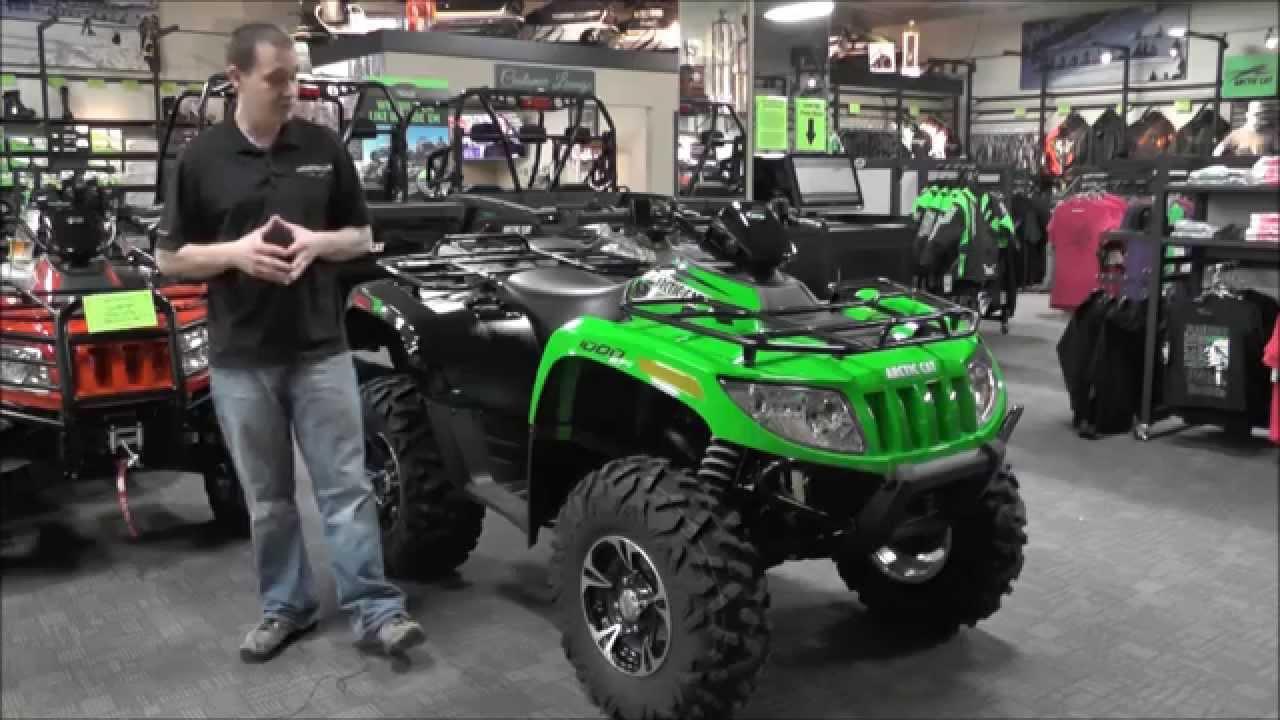 2014 Arctic Cat ATV 1000 XT Green & Black - YouTube