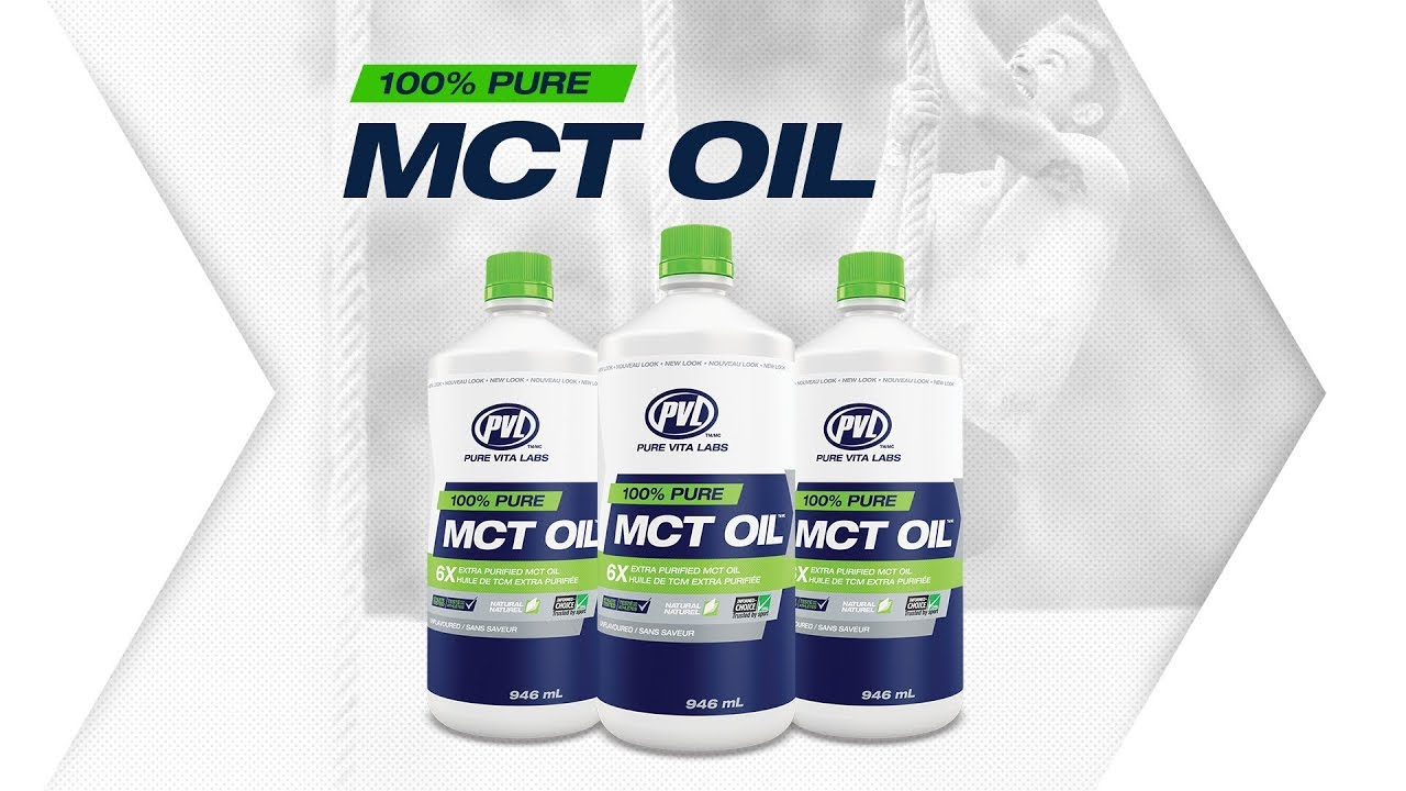 100% Pure MCT Oil   Sports Supplements   PVL Pure Vita Labs