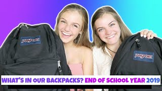What's In Our Backpack End of School Year 2019 ~ Jacy and Kacy