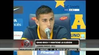 Leandro Paredes 'Hay que entrar a la Copa, Boca tiene que jugar la Libertadores'