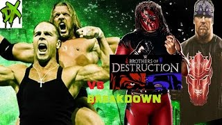 WWE 2K16 Universe DX Vs Brothers Of Destruction
