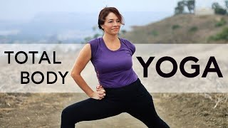 Video 1hr Total Body Yoga Workout for Flexibility and Strength With Fightmaster Yoga download MP3, 3GP, MP4, WEBM, AVI, FLV Maret 2018