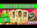 Überteuert Verkaufen in FIFA 19 Ultimate Team! 🤑💰 | Fifa 19 Trading Tipps (Deutsch)
