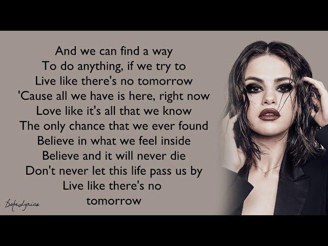 Selena Gomez & The Scene - Live Like There's No Tomorrow (Lyrics) 🎵
