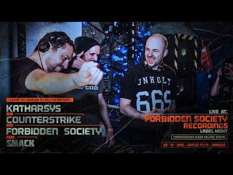 Forbidden Society b2b Katharsys b2b Counterstrike @ Cross Club 30.01.2015