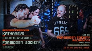 Forbidden Society b2b Katharsys b2b Counterstrike @ Cross Club 30.01.2015