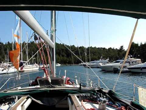 www.charterayacht.gr sailboat Thetis entering Porto Carras Marina Harbor Part 2.AVI