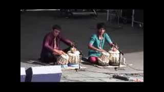 Rohan and Arnav Tabla Duet - 2013 Indian Independance Day at Penns Landing, Philadelphia