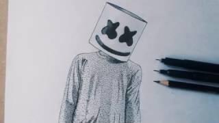 Dibujando a Marshmello (Puntillismo)
