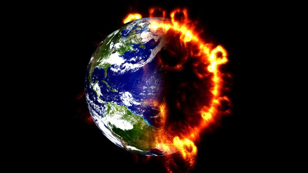 Resultado de imagen para fotos del mundo en llamas...destruido... mal