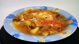 Щи из свежей капусты с говядиной пошаговый видео рецепт