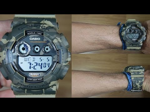 985942bf8c6 CASIO G-SHOCK CAMOUFLAGE GD-120CM-5 - UNBOXING - YouTube