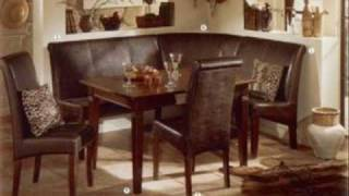 German Furniture Warehouse Collection Leather Breakfast Nook