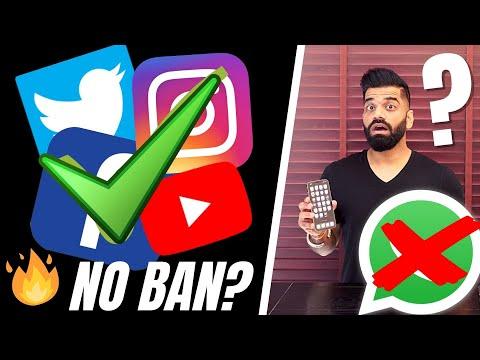 No BAN on Facebook, Twitter, Instagram & Whatsapp Etc.? WHY?🔥🔥🔥